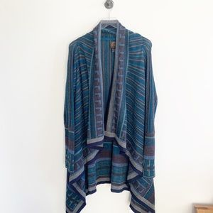 Overland 100% alpaca open front shawl cardigan